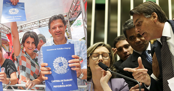 Não será fácil para Haddad vencer Bolsonaro. Terá que enfatizar a importância da democracia contra o discurso autoritário do capitão.