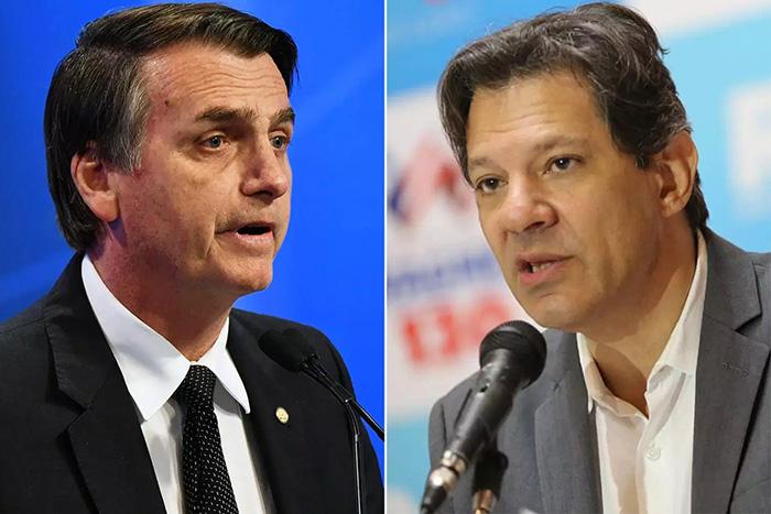 Jair Bolsonaro e Fernando Haddad.