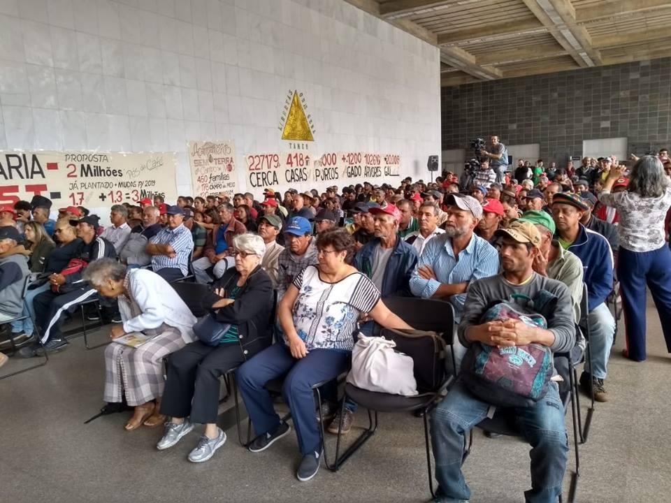 Sem Terra do MST participando de Audiência na ALMG, dia 22/11/2018