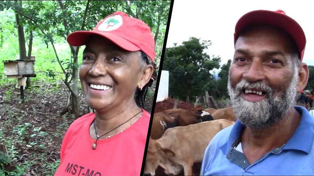 Os camponeses Matuzalém e Fátima, do Quilombo Campo Grande, do MST, em Campo do Meio - MG.