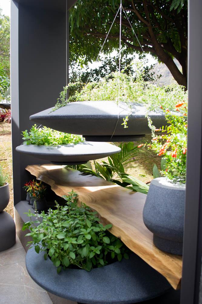 Uma horta suspensa pode ser encontrada na Cozinha do Chef.