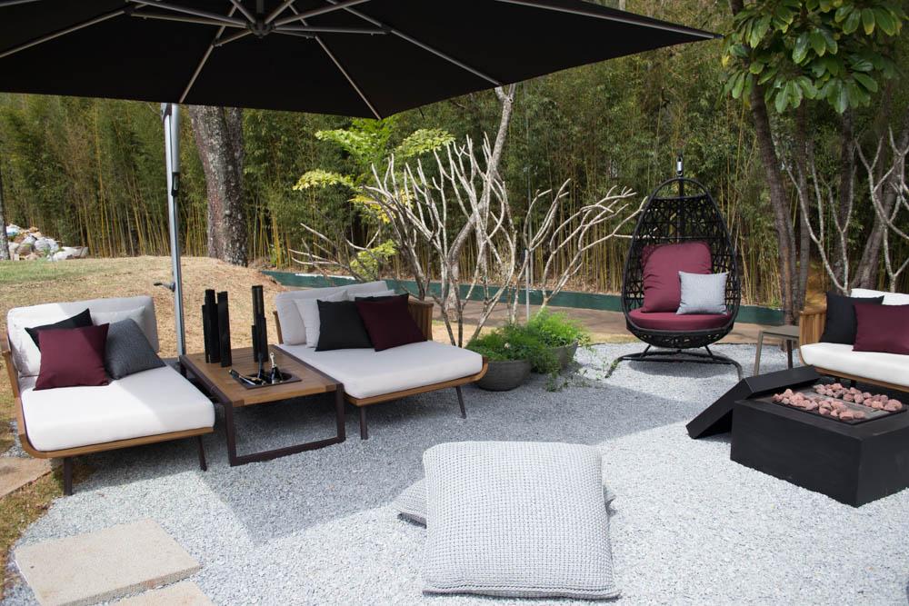 O ambiente Jardim do Encontro é um bom lugar para o descanso dos visitante.