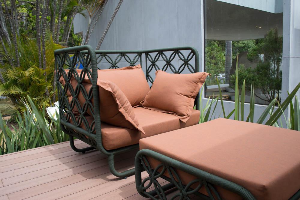 Corda náutica pode ser vista em nos mais diversos mobiliários.