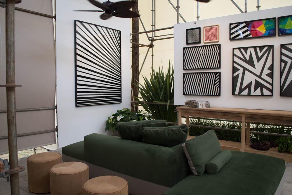 O Estúdio do Artista também traz o jardim para o espaço fechado.