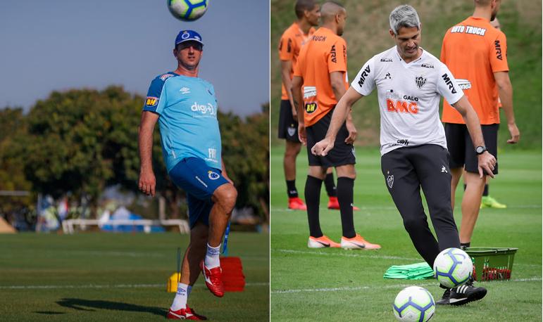 Rogério Ceni e Rodrigo Santana têm o desafio fazer Cruzeiro e Atlético vencerem novamente na temporada.