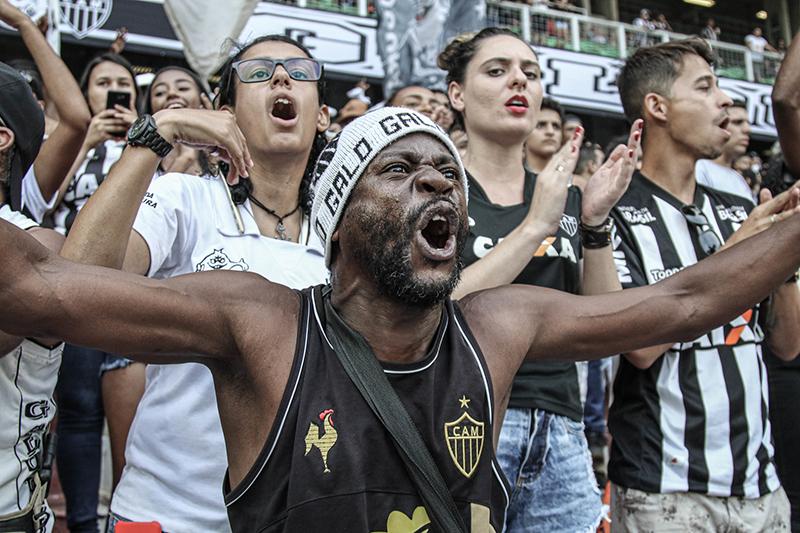 Torcedor do Galo vibra com o time; Atlético é conhecido por sua mistura de raças