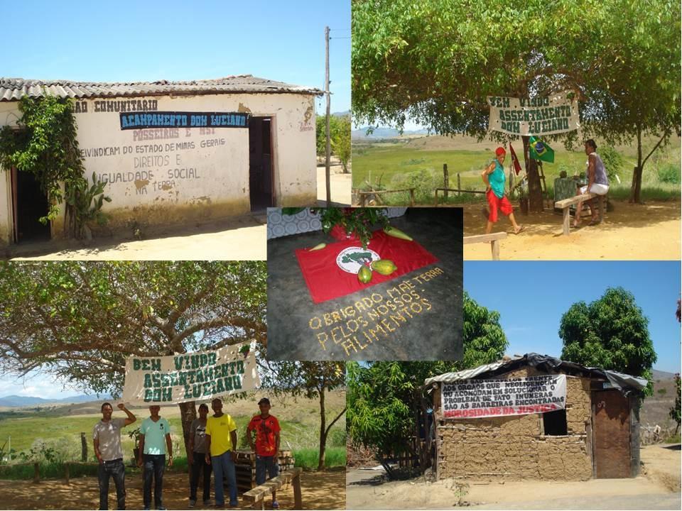 Centro Comunitário do acampamento Dom Luciano Mendes e cenas do assentamento em Salto da Divisa, em 9 de junho de 2016
