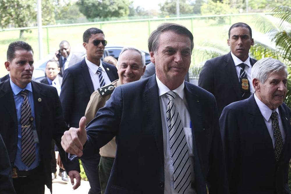 Bolsonaro em visita ao Gabinete de Segurança Institucional