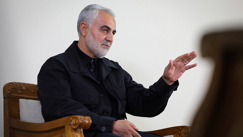 O general iraniano Qasem Soleimani em 1 de outubro de 2019 em Teerã