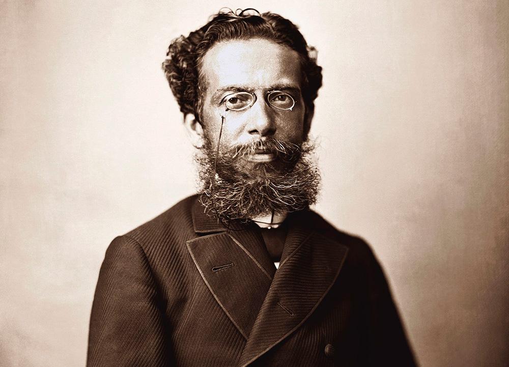 Retrato de Machado de Assis feito por Marc Ferrez