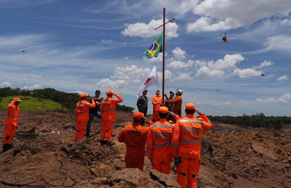 Cerimonia de homenagem as vitimas e familias atingidas pelo rompimento da barragem de rejeito da Mina do Corrego do Feijão  em fevereiro de 2019