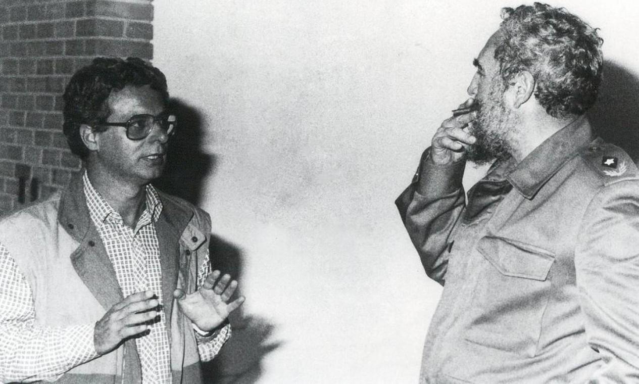 Frei Betto conversando com Fidel