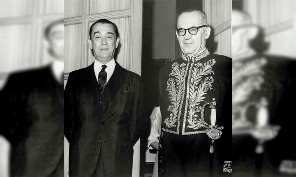 Juscelino Kubitschek prestigiou a posse de Guimarães Rosa na ABL, em 1967