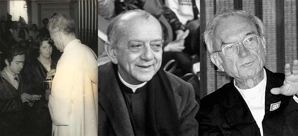 À partir da esquerda: dom José Maria Pires, dom Helder Câmara e dom Luciano Mendes de Almeida,  profetas da paz e da justiça