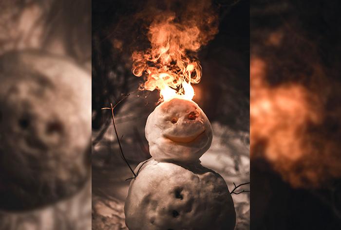Nós estamos confusos, sem conseguir achar a luz. Está frio. Está quente?