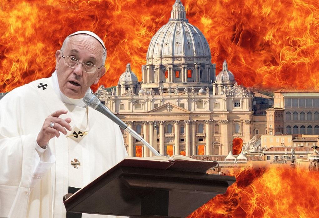 'Deus nos proteja do comunismo papal', grita o jornal de extrema-direita La Veritá