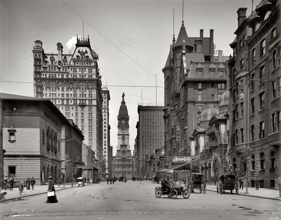 Broad Street north of Spruce Street, Philadelphia, 1905