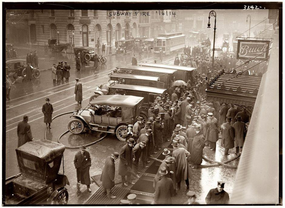 Fire at 55th Street, New York, 1914