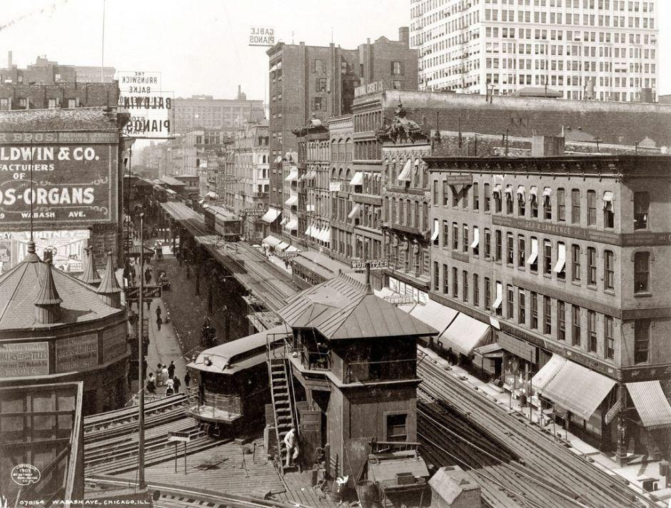 Wabash Avenue, Chicago, 1907