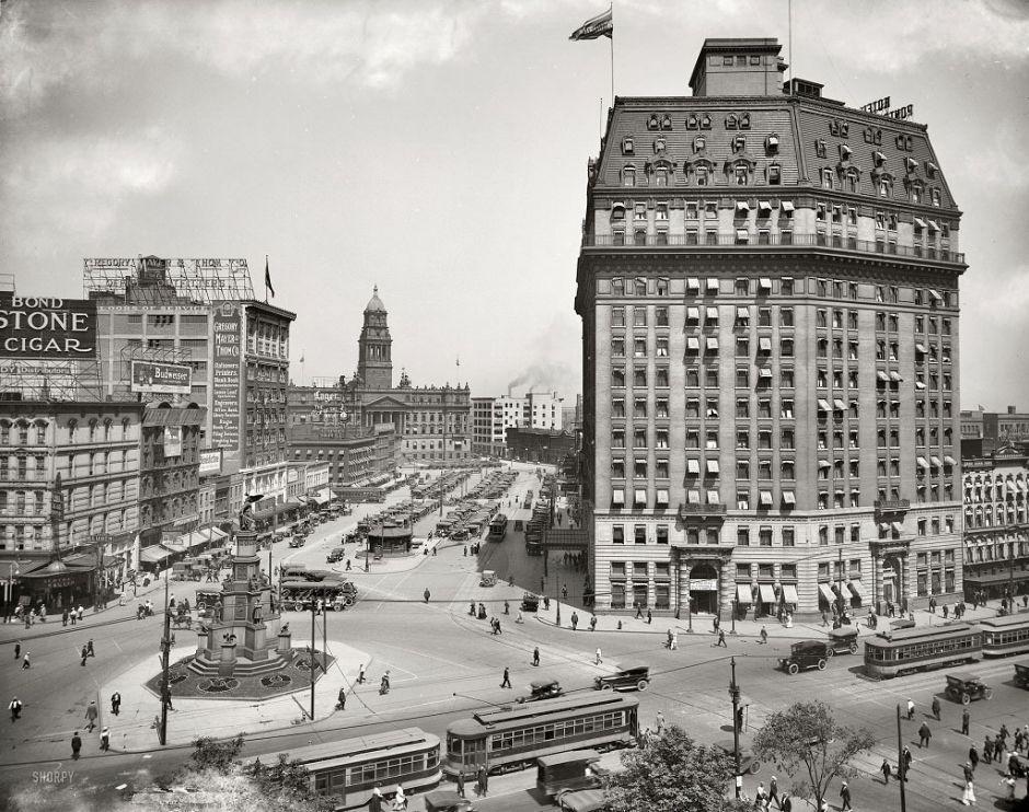 Cadillac Square, Detroit, Michigan, 1916