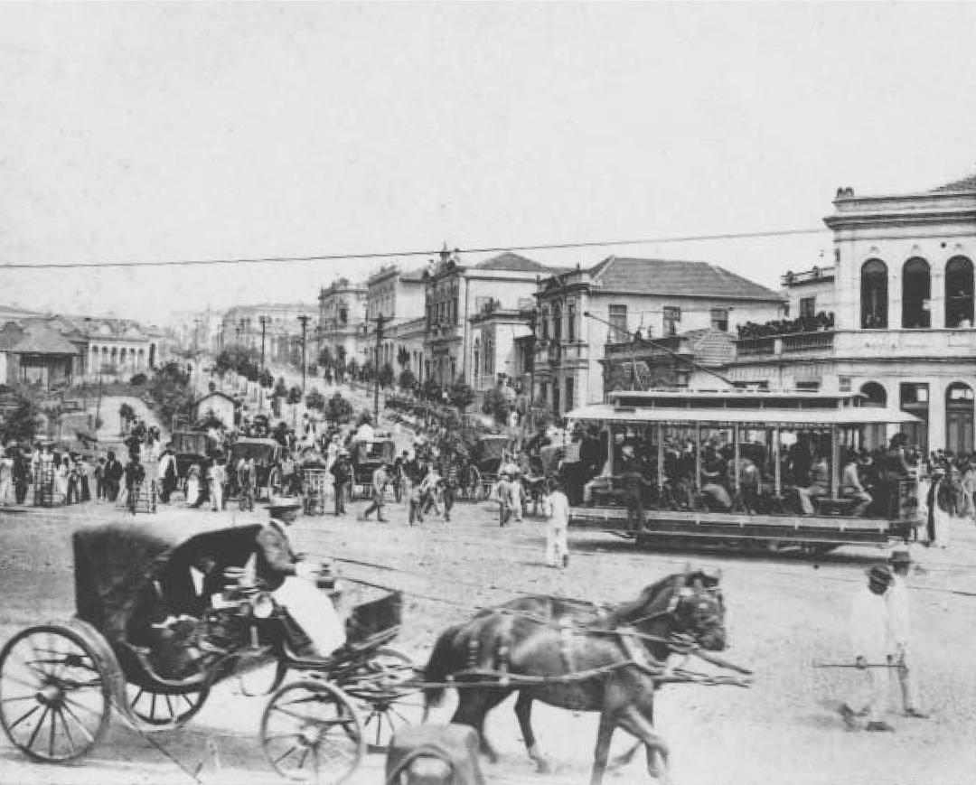 Av Afonso Pena com rua da Bahia, 1905