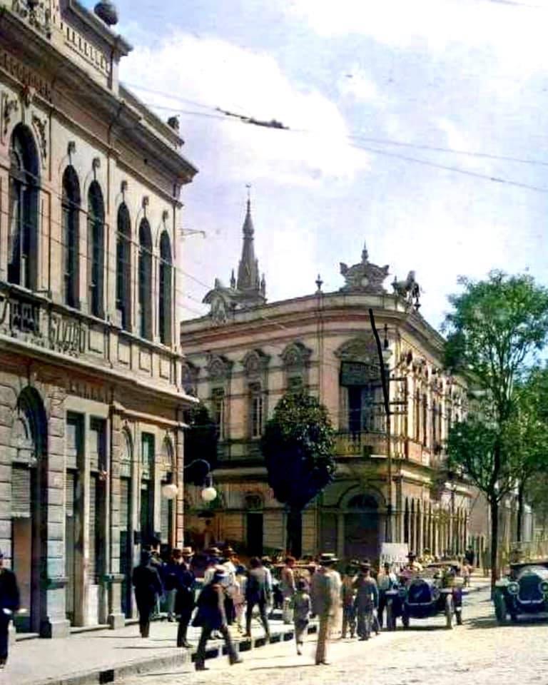 Av. Afonso Pena com Rua dos Tupis, anos 1920