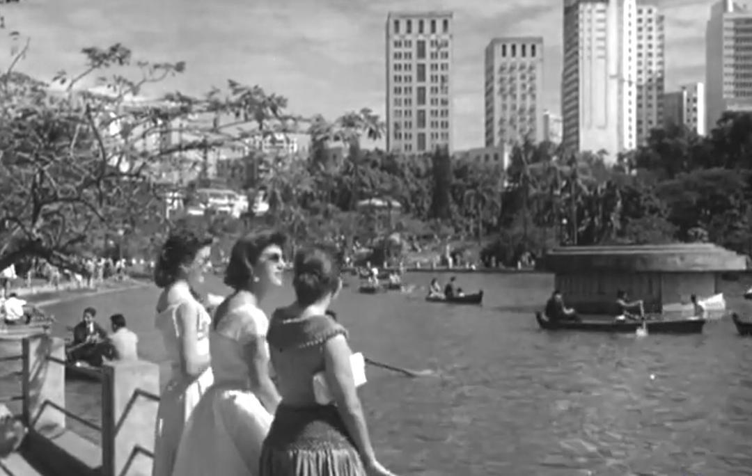 Nos anos 1950, o Parque Municipal era ponto de encontro social