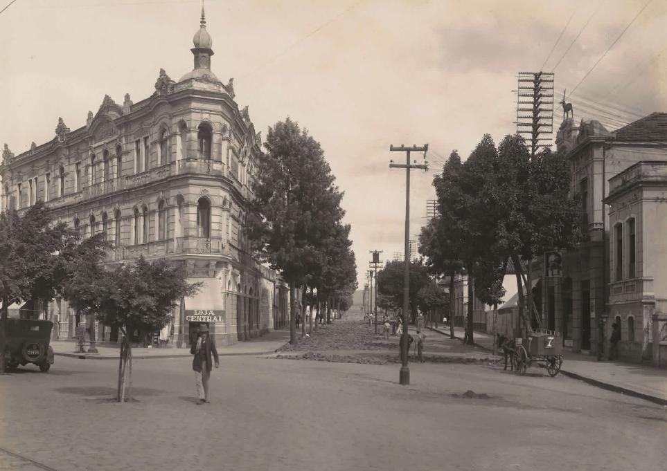 Rua São Paulo com av Afonso Pena, 1929