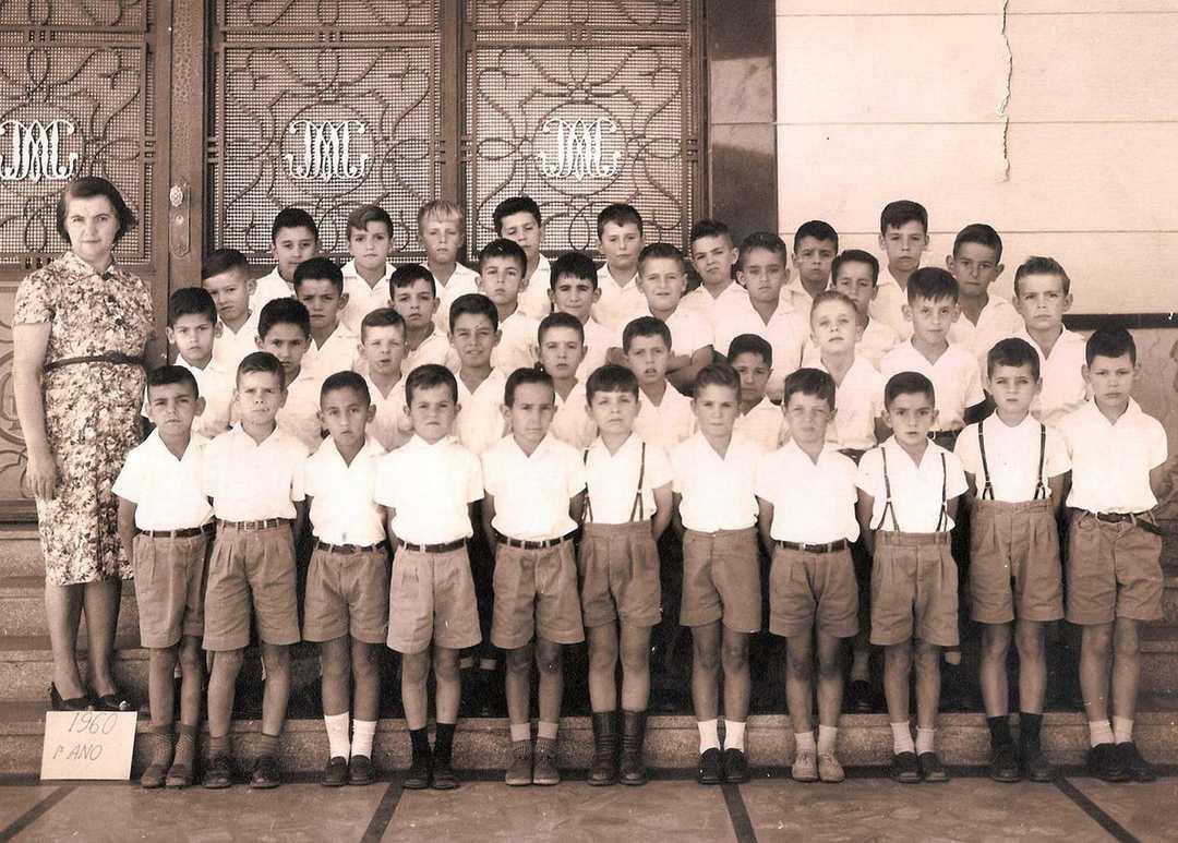 Primeiro ano primário do colégio Dom Silvério, 1960