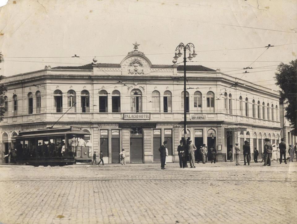 Palácio Hotel, av Afonso Pena, anos 1920