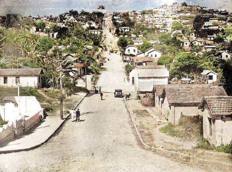 Rua Lavras, bairro São Pedro, anos 1930