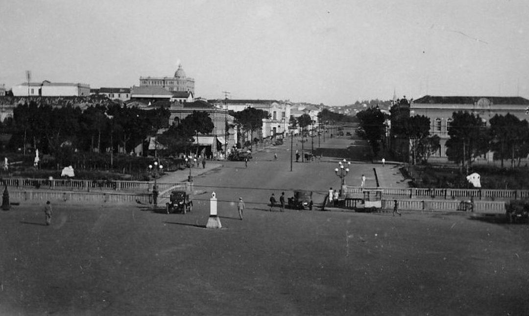 Av. Santos Dumont vista da Praça da Estação, 1920