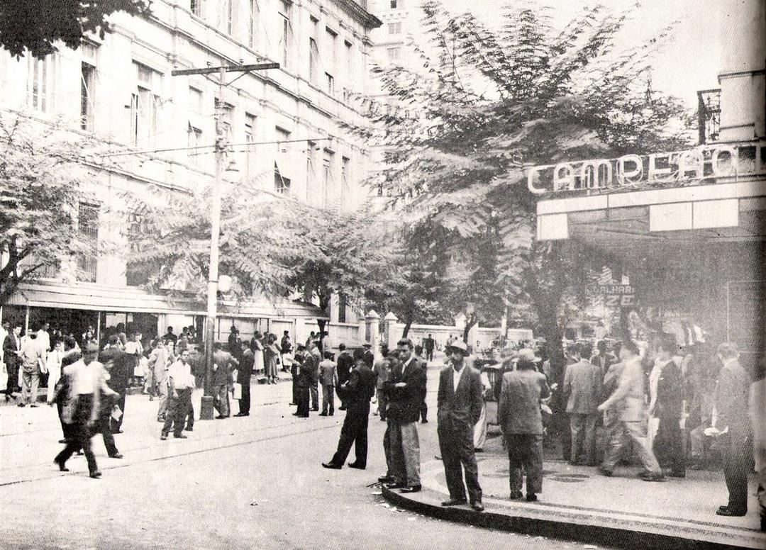 Campeão da Avenida, loja lotérica na Praça 7, anos 1950