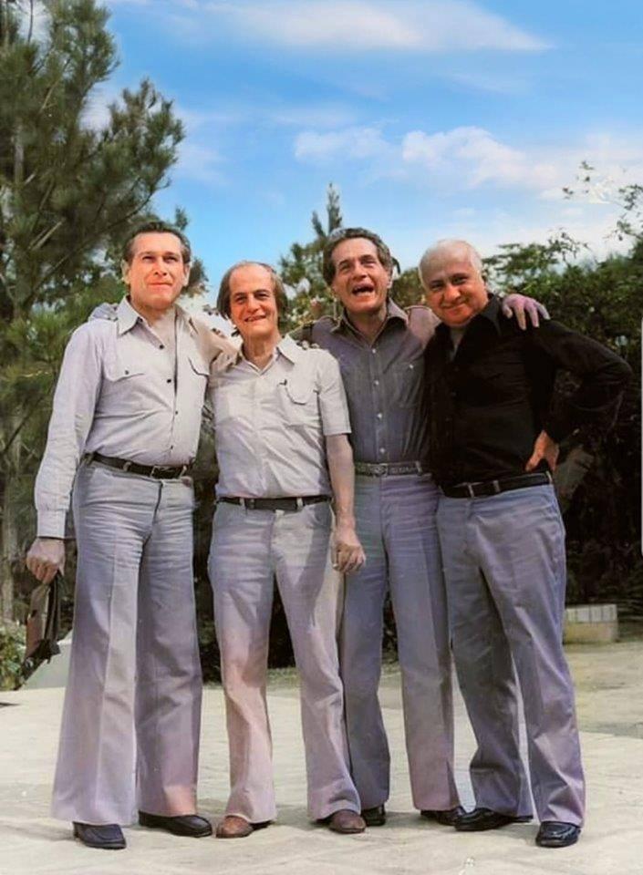 Encontro em BH dos mineiros Fernando Sabino, Paulo Mendes Campos, Hélio Pellegrino e Otto Lara Resende, 1970
