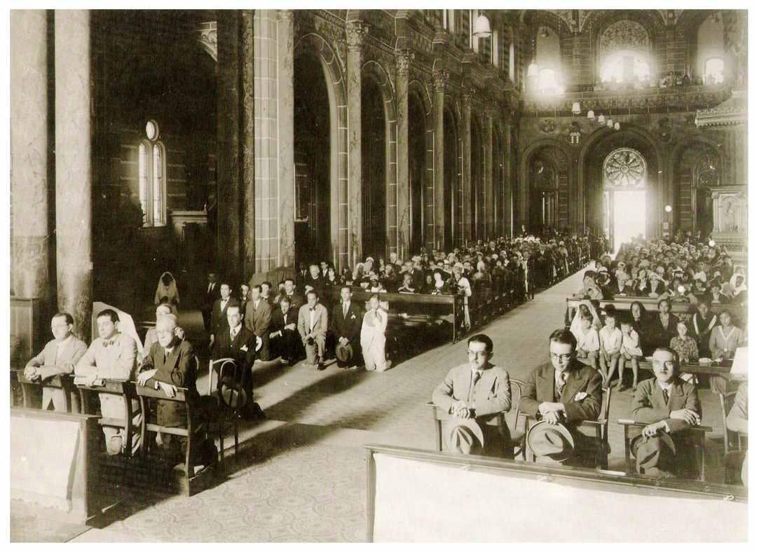 Interior da igreja São José, 1930