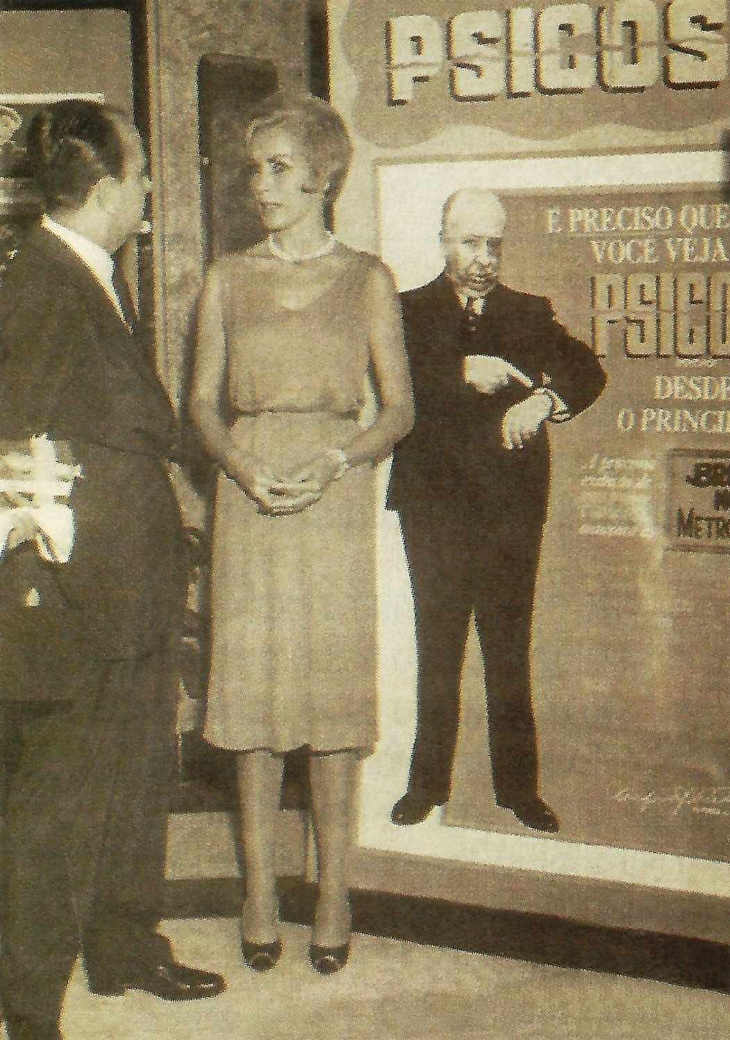 Janet Leigh em Belo Horizonte para lançamento de Psicose, de Hitchcock, 1961