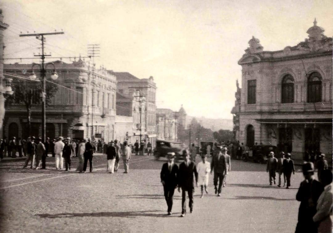 Teatro Municipal onde mais tarde surgiria o cine Metrópole, anos 1930