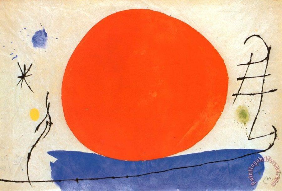 Sol vermelho, 1950