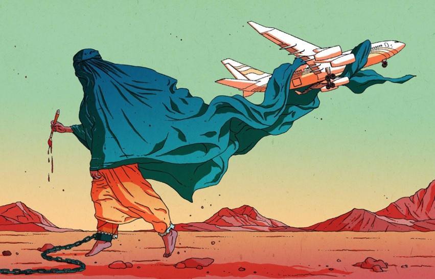 A brutalidade primitiva do Talibã devolve as mulheres à esfera doméstica  (Olivier Bonhomme)