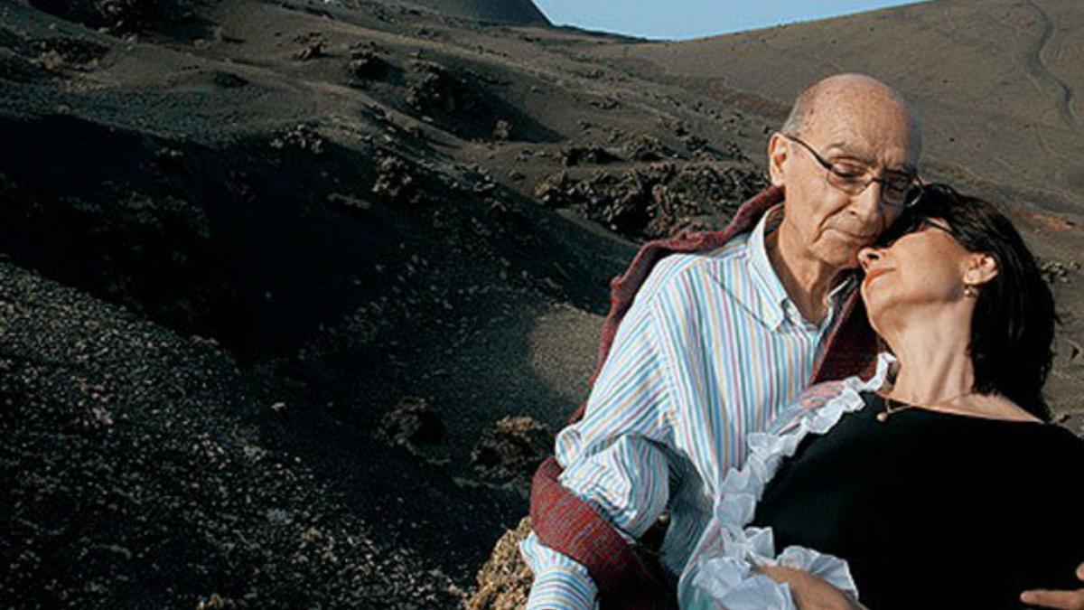 Saramago e Pilar del Río em Lanzarote, nas Ilhas Canárias.