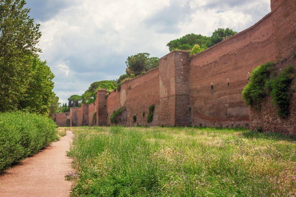 As Muralhas Aurelianas (Roma, Itália)