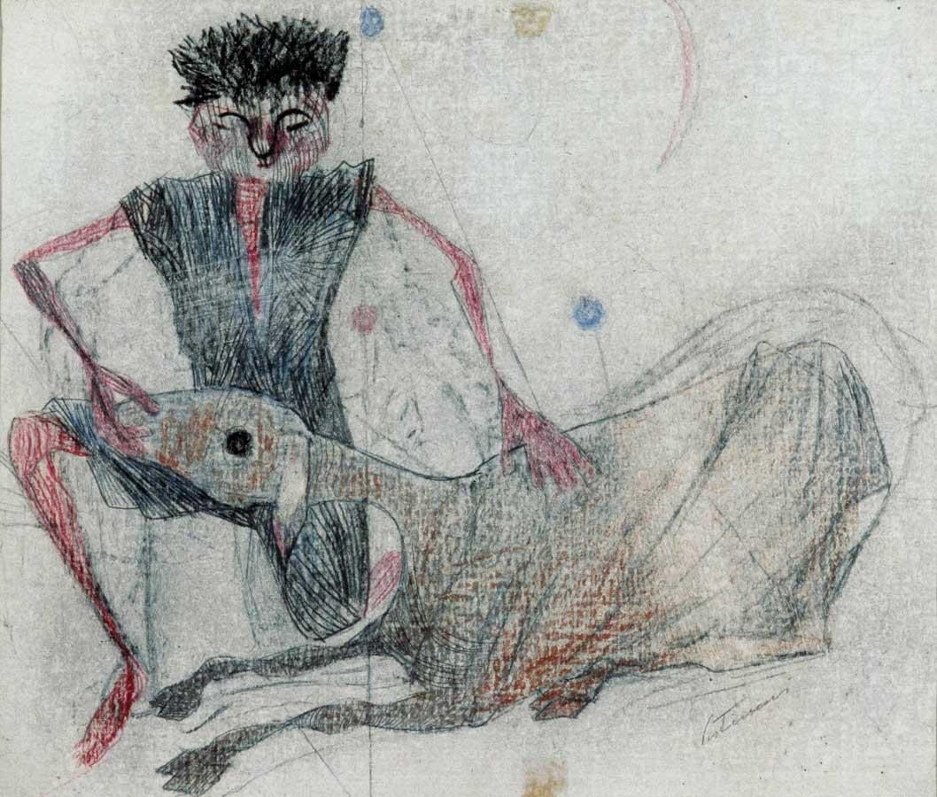 Menino com carneiro, 1955