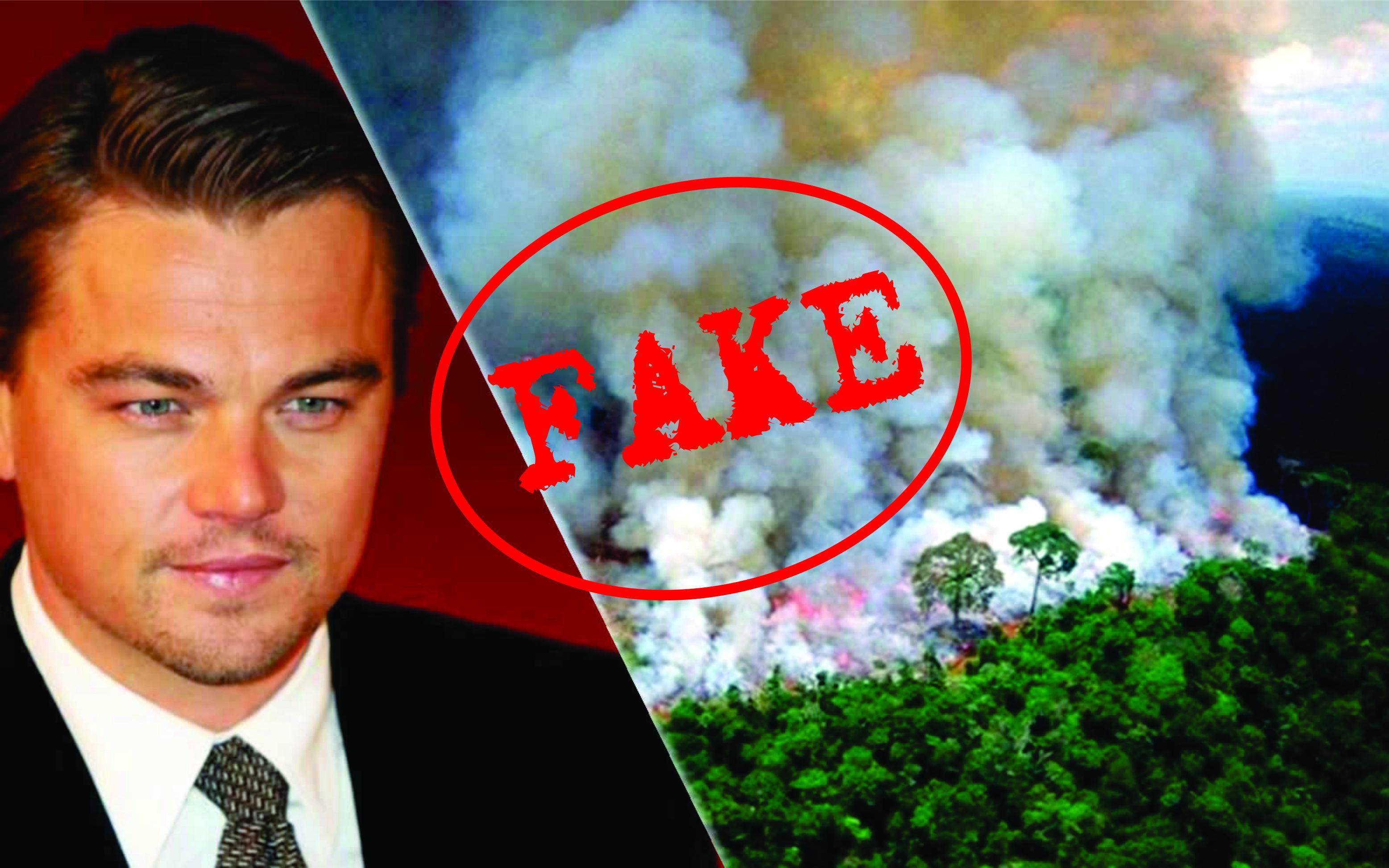 Leonardo DiCaprio, uma das celebridade que divulgaram fotos 'fake' das queimadas na Amazônia.