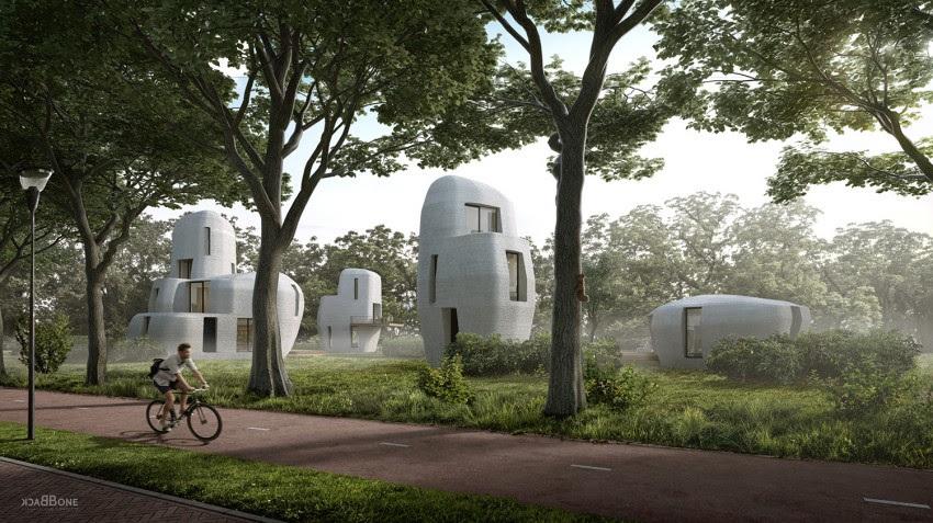 A primeira casa será térrea com aproximadamente 95 m² e será seguida por quatro edifícios.