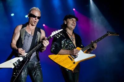 A banda de rock alemã Scorpions.