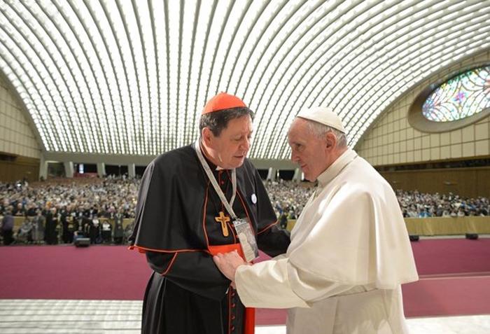 Card. João Braz de Aviz com o Papa Francisco.