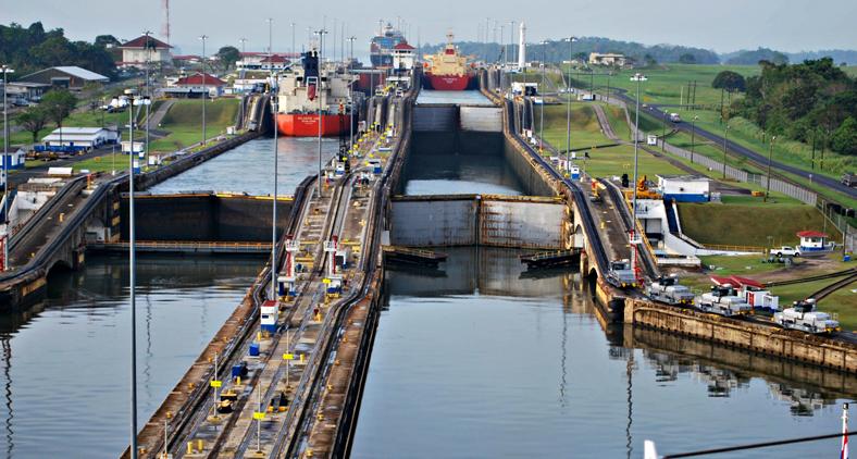 Mapa do Canal do Panamá. (Reprodução)