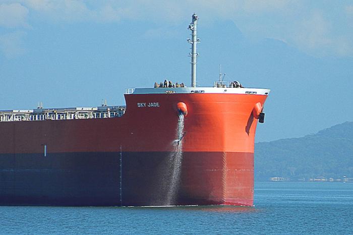 A água de lastro é necessária para manter o equilíbrio dos navios quando eles estiverem sem carga.