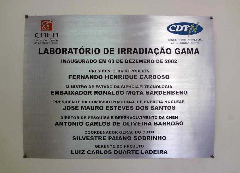 Os alunos também conheceram o Laboratório de Irradiação Gama do CDTN.