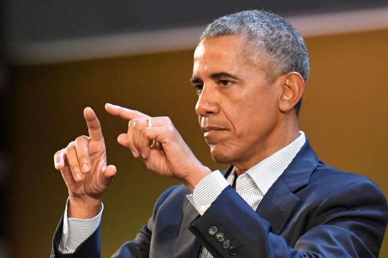 O ex-presidente americano Barack Obama, em Milão, em 9 de maio de 2017